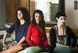 Antonia Pellegrino, Alessandra Orofino e Manoela Miklos, articuladoras do movimento #AgoraÉQueSãoElas Foto: Ana Branco / Agência O Globo