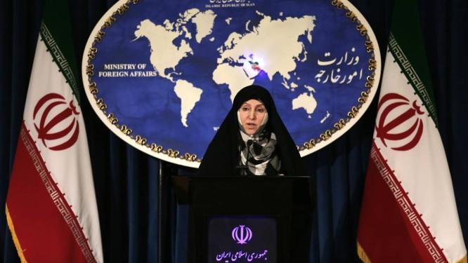 Marzieh Afkham em coletiva de imprensa: porta-voz virou embaixadora Foto: ATTA KENARE / AFP