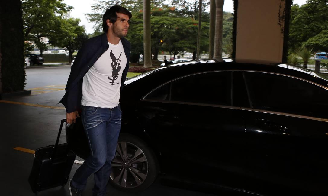 Kaká foi um dos primeiros a se apresentar à seleção em São Paulo, onde a equipe vai se reunir antes de viajar para Buenos Aires. Na quinta-feira, dia 12, o Brasil enfrenta a Argentina André Mourão/Mowa Press/Divulgação