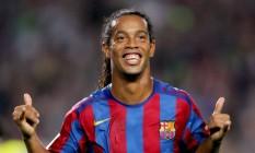 Ronaldinho Gaúcho é atualmente embaixador do Barcelona Foto: Albert Gea / Reutes