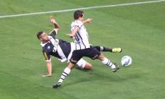No primeiro turno, o Corinthians venceu o Vasco (3 a 0), em São Paulo. A partida do returno está confirmada para São Januário Foto: Marcos Alves / Agência O Globo