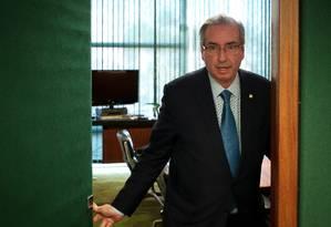 O presidente da Câmara, Eduardo Cunha Foto: André Coelho / Agência O Globo
