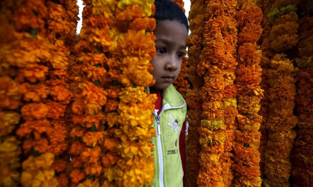 "No Nepal, Diwali também é chamado de ""Tihar Festival"" NAVESH CHITRAKAR / REUTERS"
