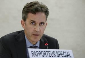 David Kaye, relator especial da ONU para Liberdade de Opinião e Expressão, participa de um fórum sobre internet em João Pessoa, na Paraíba Foto: Jean-Marc Ferre/ONU
