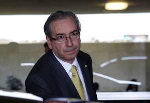 O presidente da Câmara deputado Eduardo Cunha Foto: Givaldo Barbosa / Agência O Globo