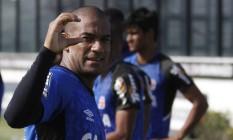 Rodrigo durante treino do Vasco Foto: Divulgação