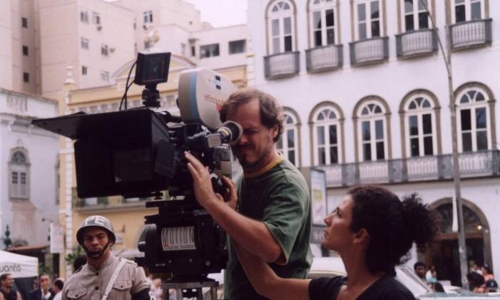 Guilherme Fontes nas filmagens de Chatô Foto: José Lucena