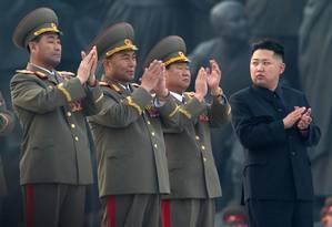 Cuidados elaborados e ultra discrição são uma das maiores responsabilidades da guarda de Kim Jong-un Foto: Ed Jones / AFP
