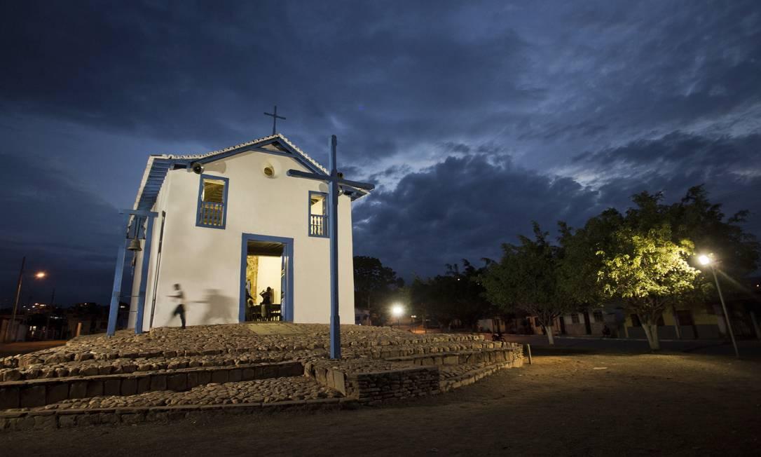 Fachada da Igreja de Nossa Senhora do Rosário dos Homens Pretos, em Chapada do Norte Gustavo Miranda / Agência O Globo