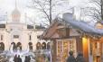 Casinha: mercado de Natal no parque Tivoli, em Copenhague
