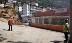 Escola será demolida para a construção das pistas que levarão às galerias do túnel, que começará a ser perfurado no bairro na próxima quinta Foto: Gustavo Stephan / Agência O Globo
