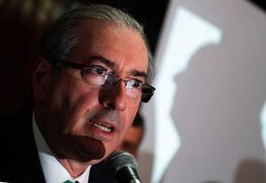 O presidente da Câmara dos Deputados, Eduardo Cunha Foto: Jorge William/12-11-2015 / Arquivo O Globo