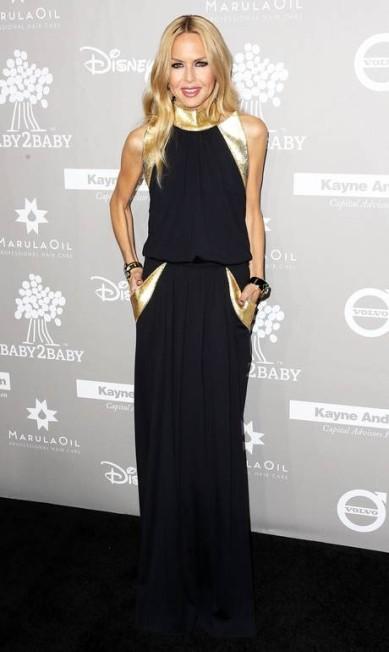 A stylist Rachel Zoe com look preto e dourado Frederick M. Brown / AFP