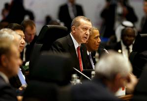 Erdogan e Obama falam em cúpula do G-20 Foto: JONATHAN ERNST / REUTERS