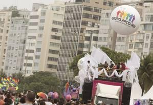 Evento foi marcado pela chuva durante todo o percurso Foto: ANTONIO SCORZA / Agência O Globo