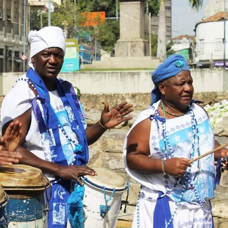 O Afoxé Filhos de Gandhi farão um cortejo pelo Cais do Valongo Foto: Bruno Bartholini / Divulgação