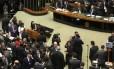O presidente do Senado, Renan Calheiros, preside sessão do Congresso para analisar vetos da presidente Dilma