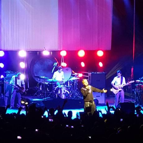 Morrissey durante show na noite da última terça Foto: Alessandro Giannini