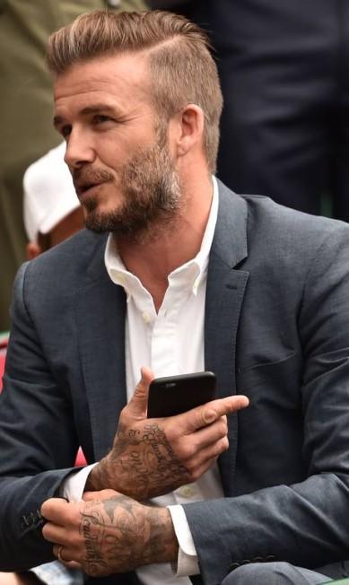 """""""É uma enorme honra. E eu estou muito satisfeito em aceitar. Nunca me sinto atraente, uma pessoa sexy"""", disse Beckham em entrevista à publicação LEON NEAL / AFP"""