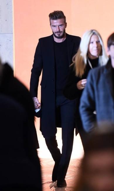 A elegância do ex-jogador durante a semana de moda de Nova York, em fevereiro JEWEL SAMAD / AFP