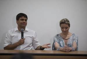O secretário de Governo Pedro Paulo e a ex-mulher Alexandra Marcondes Foto: Alexandre Cassiano/12-11-2015 / Arquivo O Globo