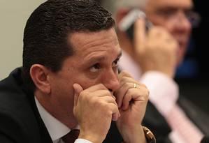 O relator do parecer contra Cunha, deputado Fausto Pinato Foto: Jorge William / Agência O Globo
