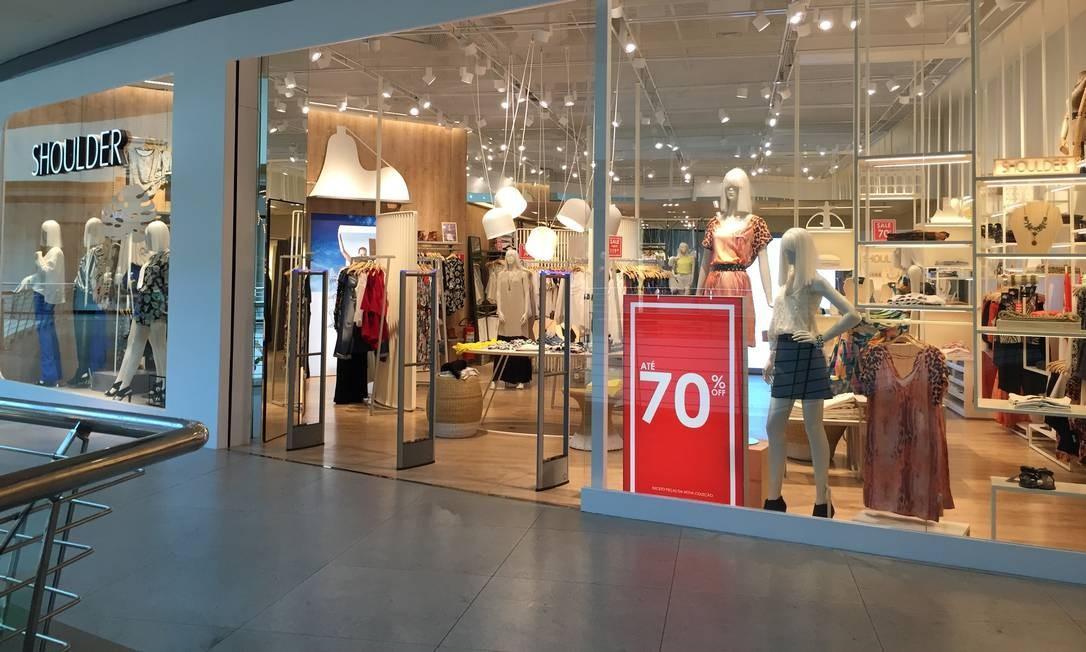 d2b14e99e18 Loja no Shopping Metropolitano oferece 70% de desconto Foto  Divulgação   shopping