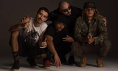 Chino (à esquerda), Geninho Beatbox, Bruno Silva e Nissin, do Oriente Foto: Divulgação/Marcos Hermes