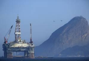 Plataforma na Baía de Guanabara Foto: Dado Galdieri / Bloomberg