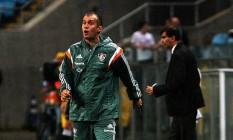 Eduardo Baptista reconheceu que a expulsão de Gérson acabou prejudicando o time tricolor Foto: Divulgação/Fluminense