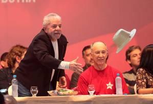 O ex-presidente Lula participa do 3º Congresso Nacional da Juventude do PT em Brasília Foto: Ailton de Freitas / O Globo