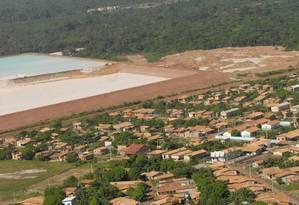 """Barragem da Imerys na cidade de Barcarena, no Pará: vazamento de cerca de 450 mil metros cúbicos de rejeitos de caulim já aconteceu em 2007 Foto: Arquivo/""""O Liberal"""""""