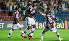 Gum comemora o primeiro gol do Fluminense sobre o Avaí Foto: Bruno Haddad/Divulgação Fluminense