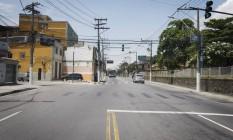 A Rua Benjamin Constant, que terá obra de duplicação finalizada após dez anos Foto: Luiz Ackermann / Agência O Globo