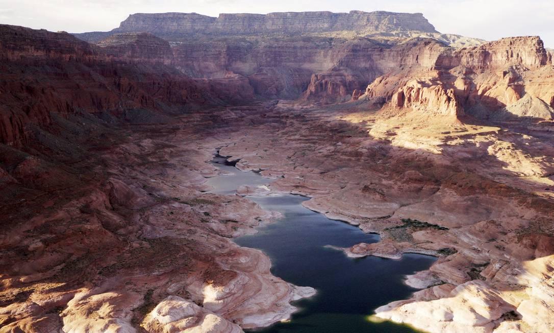 O Lago Powell fornece água para Nevada, Arizona e Califórnia RICK WILKING / REUTERS