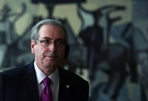 O presidente da Câmara, Eduardo Cunha Foto: Jorge William / Agência O Globo 24/11/2015