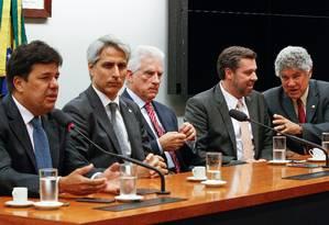 Líderes da oposição se reúnem para traçar estratégias contra o presidente da Câmara, Eduardo Cunha Foto: André Coelho / Agência O Globo