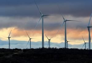 Complexo eólico na Bahia: Brasil e Dinamarca são elogiados pela adoção da fonte de energia renovável, cujo custo será reduzido nos próximos anos Foto: Divulgação