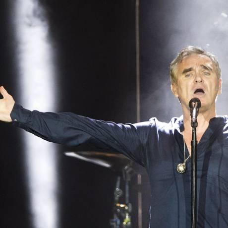 O cantor Morrissey Foto: Mônica Imbuzeiro / Agência O Globo