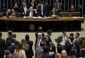Presidente do Congresso, senador Renan Calheiros cancelou sessão desta quarta-feira Foto: Ailton de Freitas / Agência O Globo