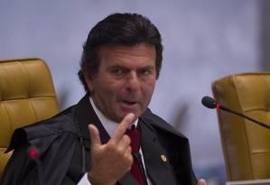 O ministro Luiz Fux, do Supremo Tribunal Federal Foto: André Coelho/26-02-2014 / Arquivo O Globo