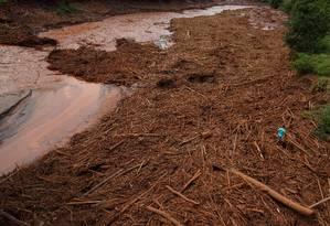 O Rio Doce após a onda de lama de rejeitos da mineradora Samarco Foto: Daniel Marenco/09-11-2015 / Arquivo O Globo