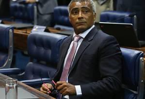 O Senador Romário (PSB-RJ) Foto: Ailton de Freitas/25-02-2015 / Arquivo O Globo