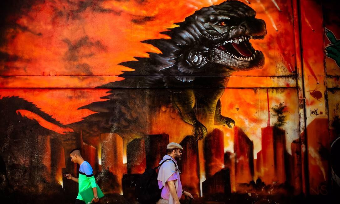 REFERÊNCIA VISUAL. Grafites de São Paulo são conhecidos no mundo todo Foto: Marcos Alves / Agência O Globo