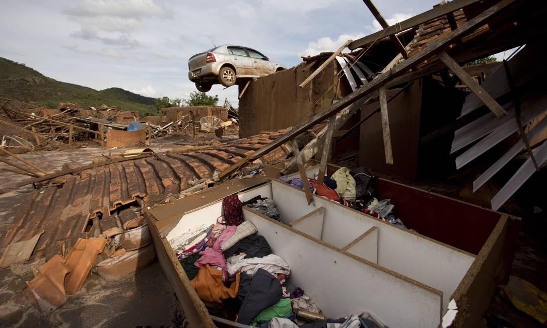 O distrito de Bento Rodrigues, em Mariana, se transformou em ruínas Foto: Márcia Foletto / Agência O Globo