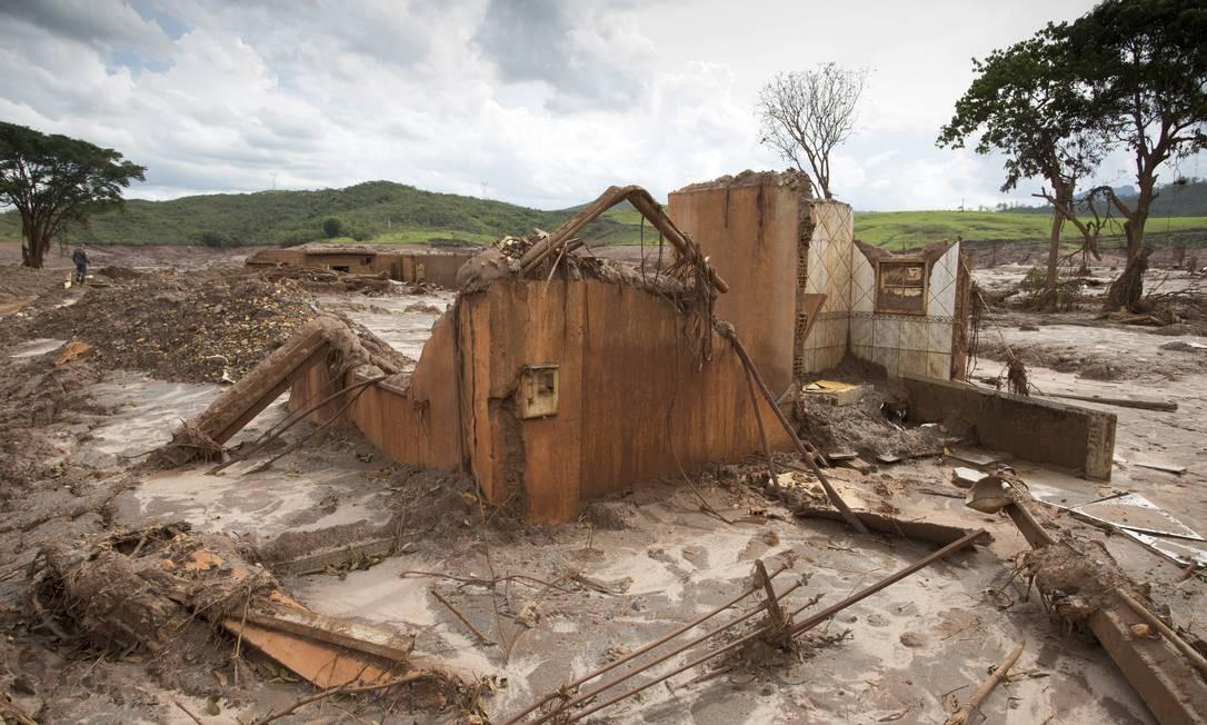 Cerca de 600 pessoas moravam em Bento Rodrigues Foto: Márcia Foletto / Agência O Globo