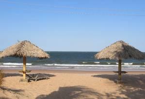 BV - Praia Grande. Principal praia de Salvaterra, na Ilha do Marajó Foto: Lucas Altino / O Globo / lucas altino