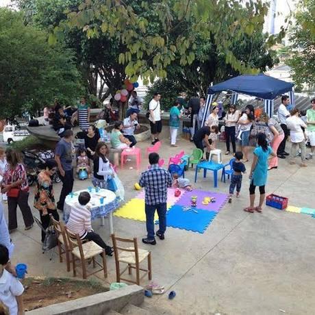 Praça recuperada pelo movimento em SP Foto: Divulgação