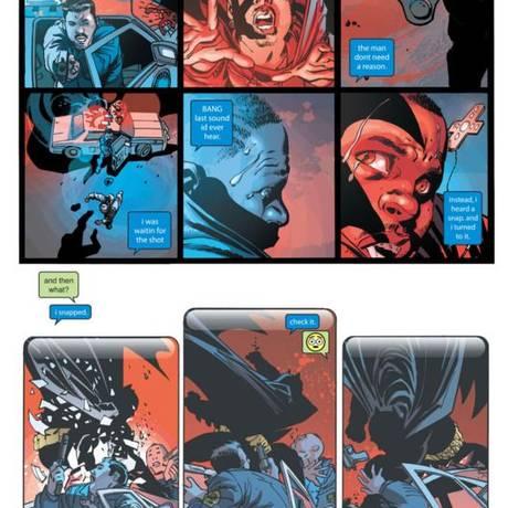 Batman ataca dupla de policiais e salva jovem inocente Foto: Reprodução