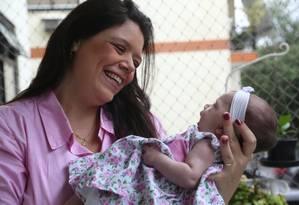 Fabricia Willmersdorf deu à luz Maria Clara aos 39 anos Foto: Custódio Coimbra / Agência O Globo